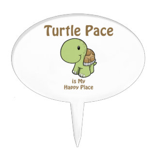 Turtle Pace is my Happy place Cake Topper