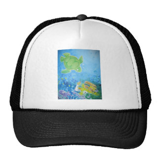 Turtle Painting Trucker Hat