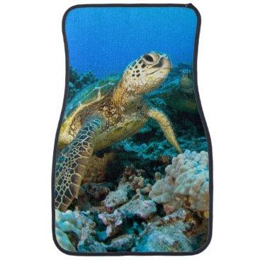 Hawaiian Themed Turtle Pair Car Mat