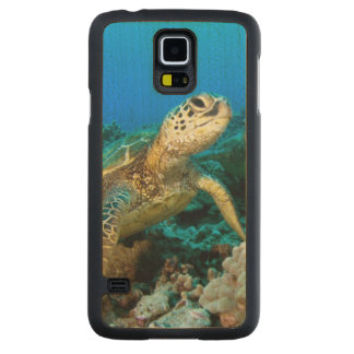 Turtle Pair Carved Maple Galaxy S5 Case