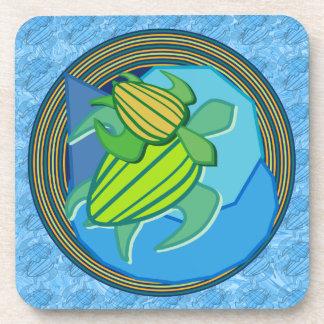 Turtle Pair Cork Coasters
