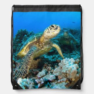 Turtle Pair Drawstring Bag