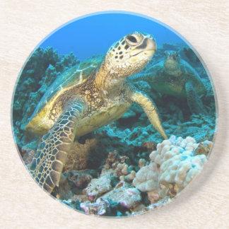 Turtle Pair Drink Coaster
