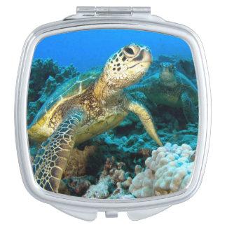 Turtle Pair Makeup Mirror