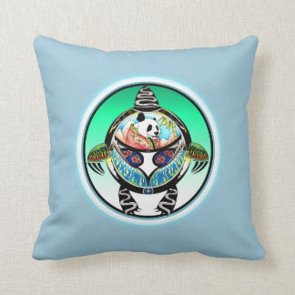 Turtle Panda Throw Pillow