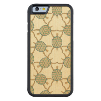 Turtle pattern carved maple iPhone 6 bumper case