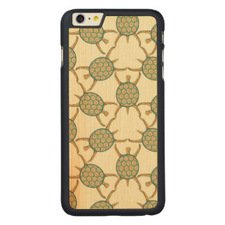 Turtle pattern carved maple iPhone 6 plus case