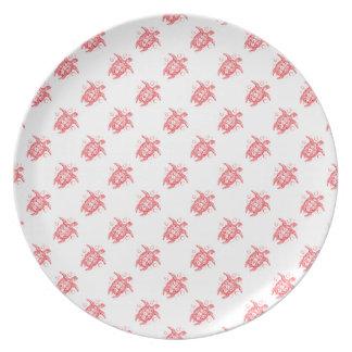 turtle pattern dinner plates