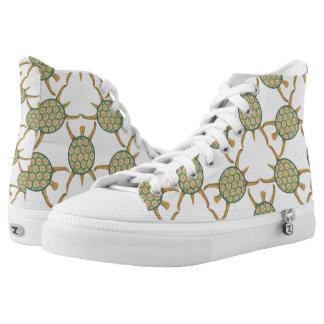 Turtle pattern High-Top sneakers