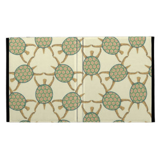 Turtle pattern iPad folio covers