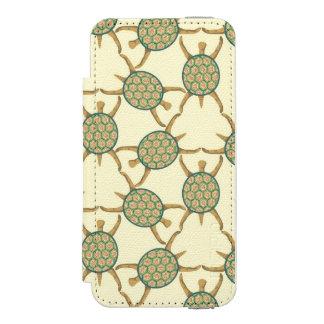Turtle pattern iPhone SE/5/5s wallet case
