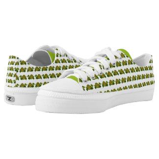 Turtle Pattern Low-Top Sneakers