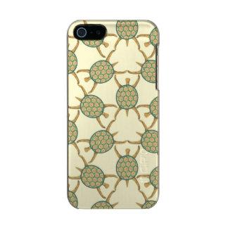Turtle pattern metallic iPhone SE/5/5s case