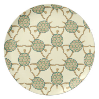 Turtle pattern party plate