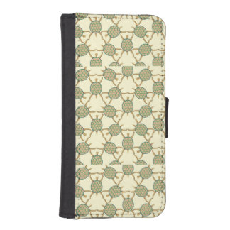 Turtle pattern wallet phone case for iPhone SE/5/5s
