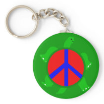 Turtle Peace Keychain