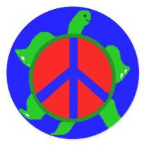 Turtle Peace Stickers