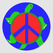 Turtle Peace Stickers