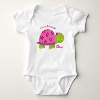 Turtle Personalized Baby Bodysuit 1st Birthday
