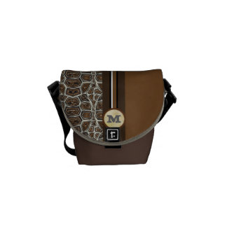 Turtle Personalized Racing Stripe Messenger Courier Bag