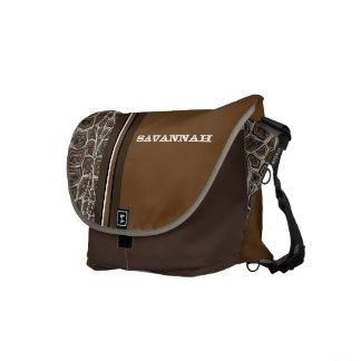 Turtle Personalized Racing Stripe Messenger Messenger Bag