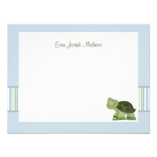 Turtle - Personalized Stationery / Notecard/ Thank Announcement