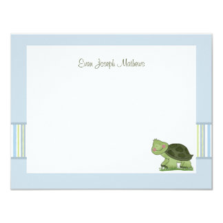 Turtle - Personalized Stationery / Notecard/ Thank 4.25x5.5 Paper Invitation Card
