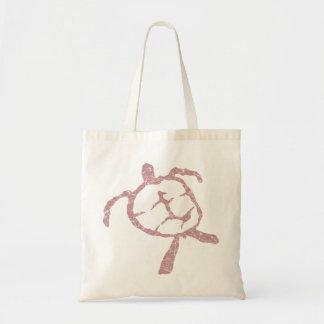 turtle-pink tote bag