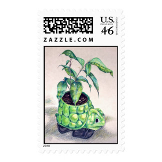 Turtle planter stamps