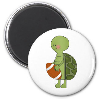 Turtle playing football magnet