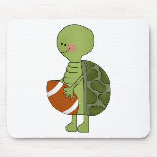 Turtle playing football mouse pad