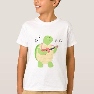 Turtle playing ukulele T-Shirt