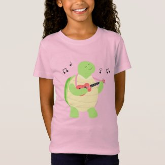 Turtle playing ukulele T-Shirt