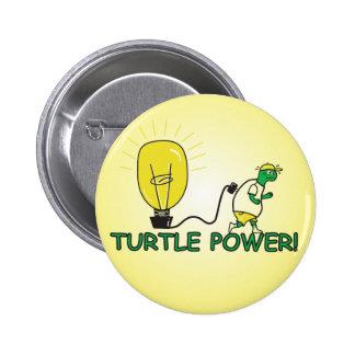 Turtle Power 2 Inch Round Button