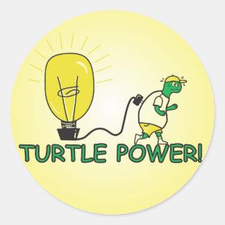 Turtle Power Round Stickers