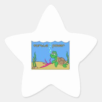 Turtle Power Star Stickers