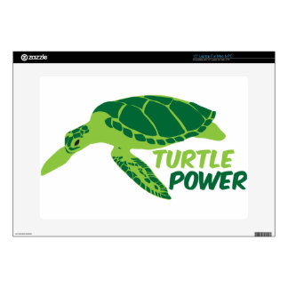 Turtle power with green turtle skin for laptop