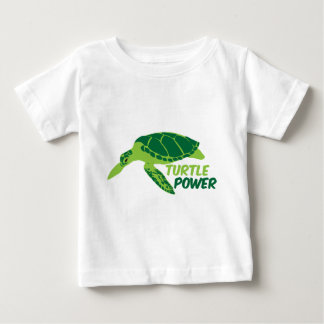 Turtle power with green turtle t-shirt