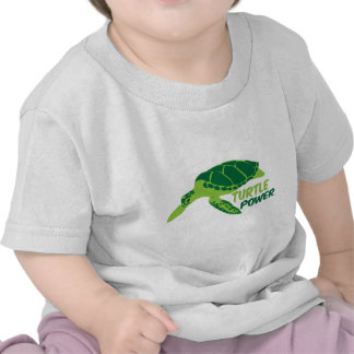 Turtle power with green turtle shirt