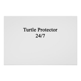 Turtle Protector 24/7 Poster