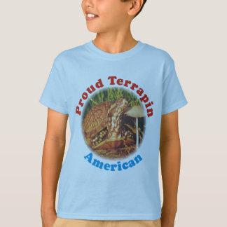 Turtle Proud Terrapin American Kids T Shirt