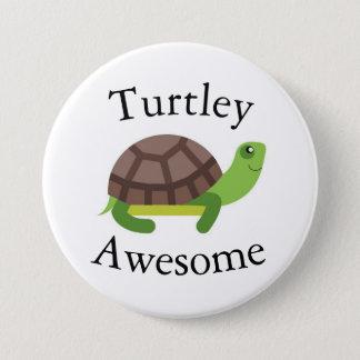 Turtle Pun Badge Pinback Button