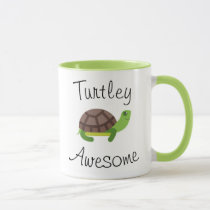Turtle Pun Green Mug