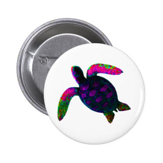 Turtle Purple The MUSEUM Zazzle Gifts Pin