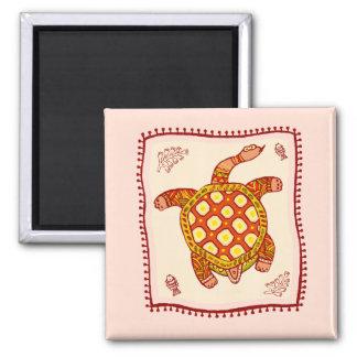 Turtle Quilt Fridge Magnets