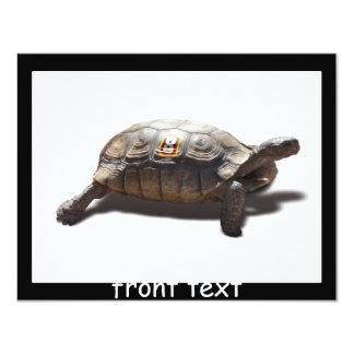 "Turtle Racer #8 4.25"" X 5.5"" Invitation Card"