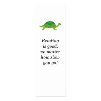 Turtle, Reading is good, no matter how slow you... Mini Business Card