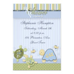 """Turtle Reef and Gold Fish Baby Shower Invitation 5"""" X 7"""" Invitation Card"""