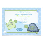 Turtle Reef Baby Shower Invitation - Light Blue
