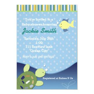 Turtle Reef Fish Under Sea Baby Shower Invitation